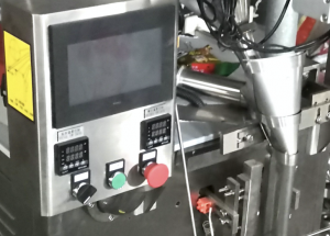 sachet packing machine touch panel with filling and sealing device